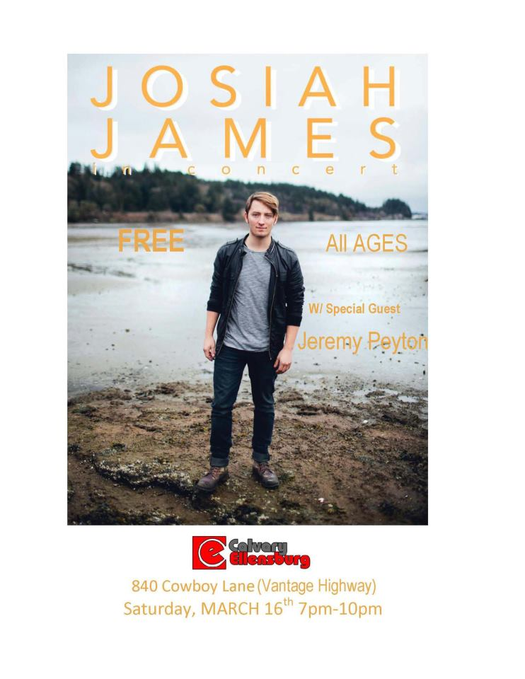 Josiah James promo poster